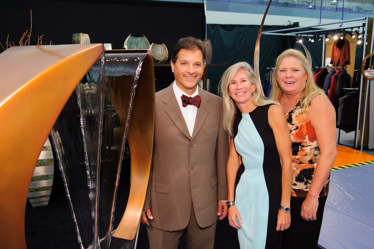 Dr. Gus Rodriguez (left), Susan J. White and Debbie Hulick
